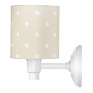 Kinkiet  LOVELY DOTS BEIGE Lamps & Co., beżowy