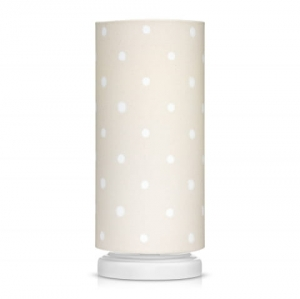 Lampka nocna LOVELY DOTS BEIGE Lamps & Co., beżowa