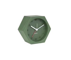 Budzik Hexagon concrete green Karlsson, zielony