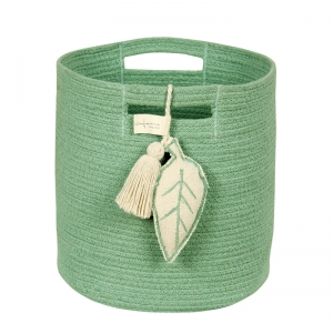 Kosz Basket Leaf Green Lorena Canals, zielony